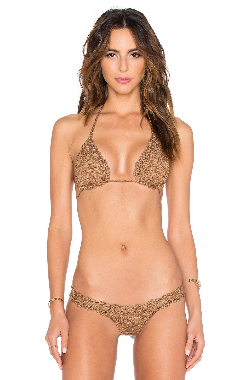 Anna Kosturova Bella Bikini Top in Toffee