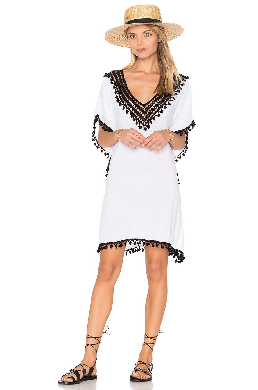 Anna Kosturova Marrakesh Caftan in White & Black