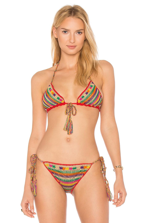 Aztec Bikini Top by Anna Kosturova Swimwear