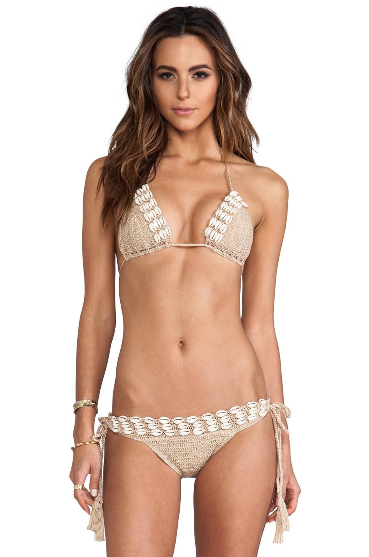 Anna Kosturova Seashore Bikini in Taupe