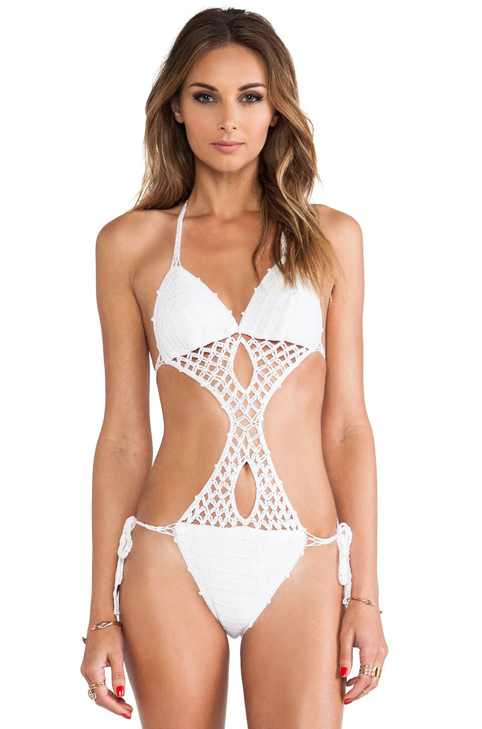 Anna Kosturova South Beach Suit in White