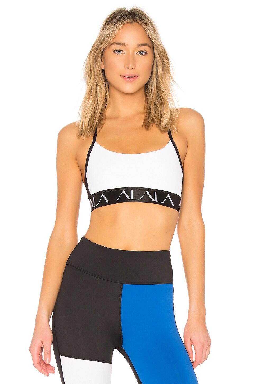 ALALA Crest Sports Bra in White