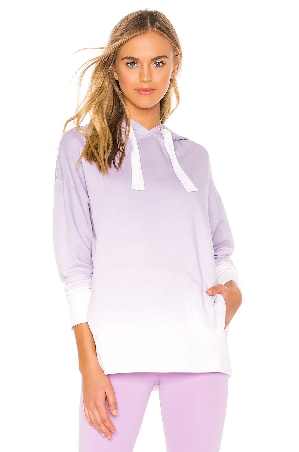 ALALA Ombre Hoodie in Lilac