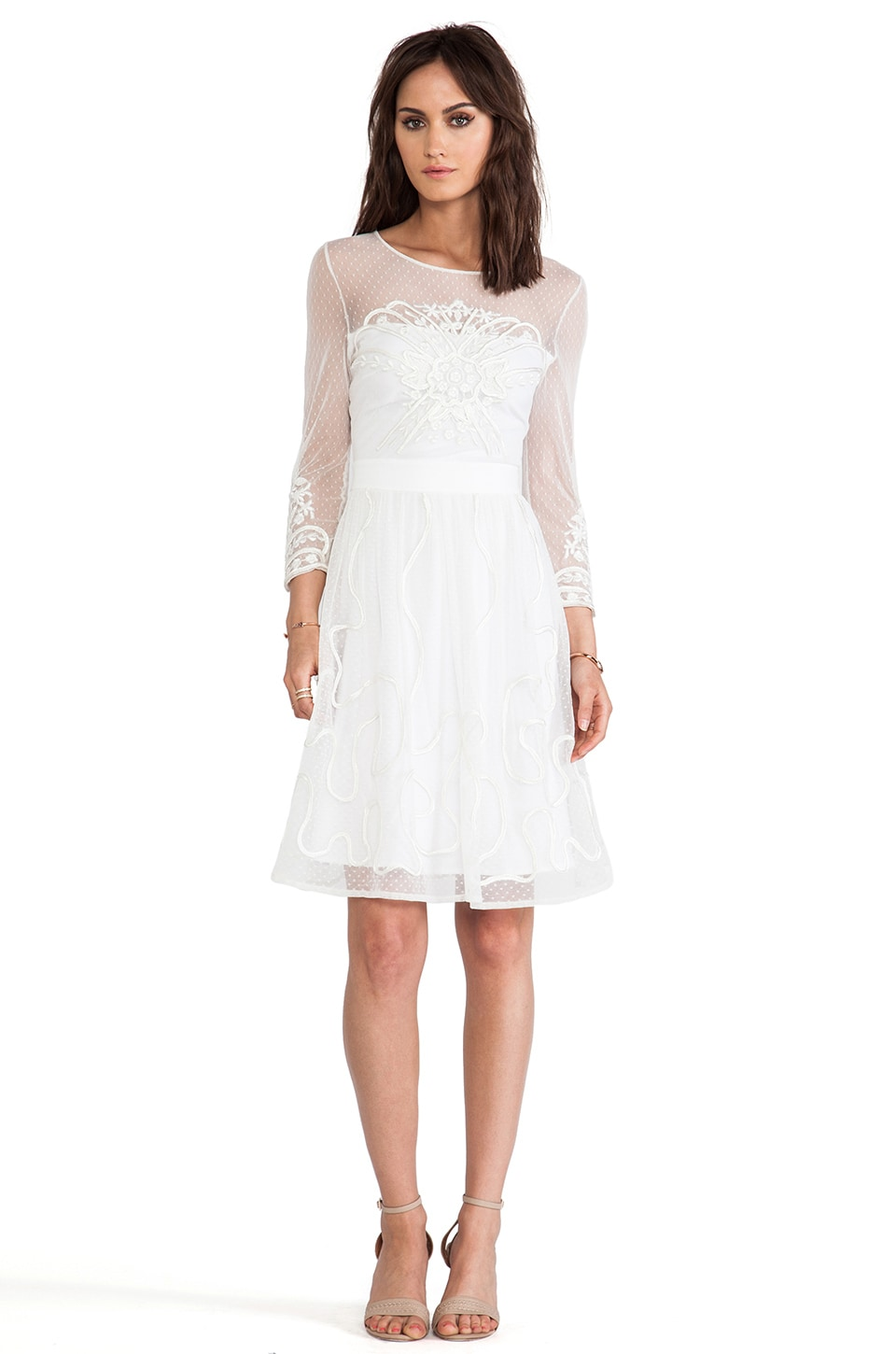 Alice by Temperley Mini Ezra Dress in Ivory