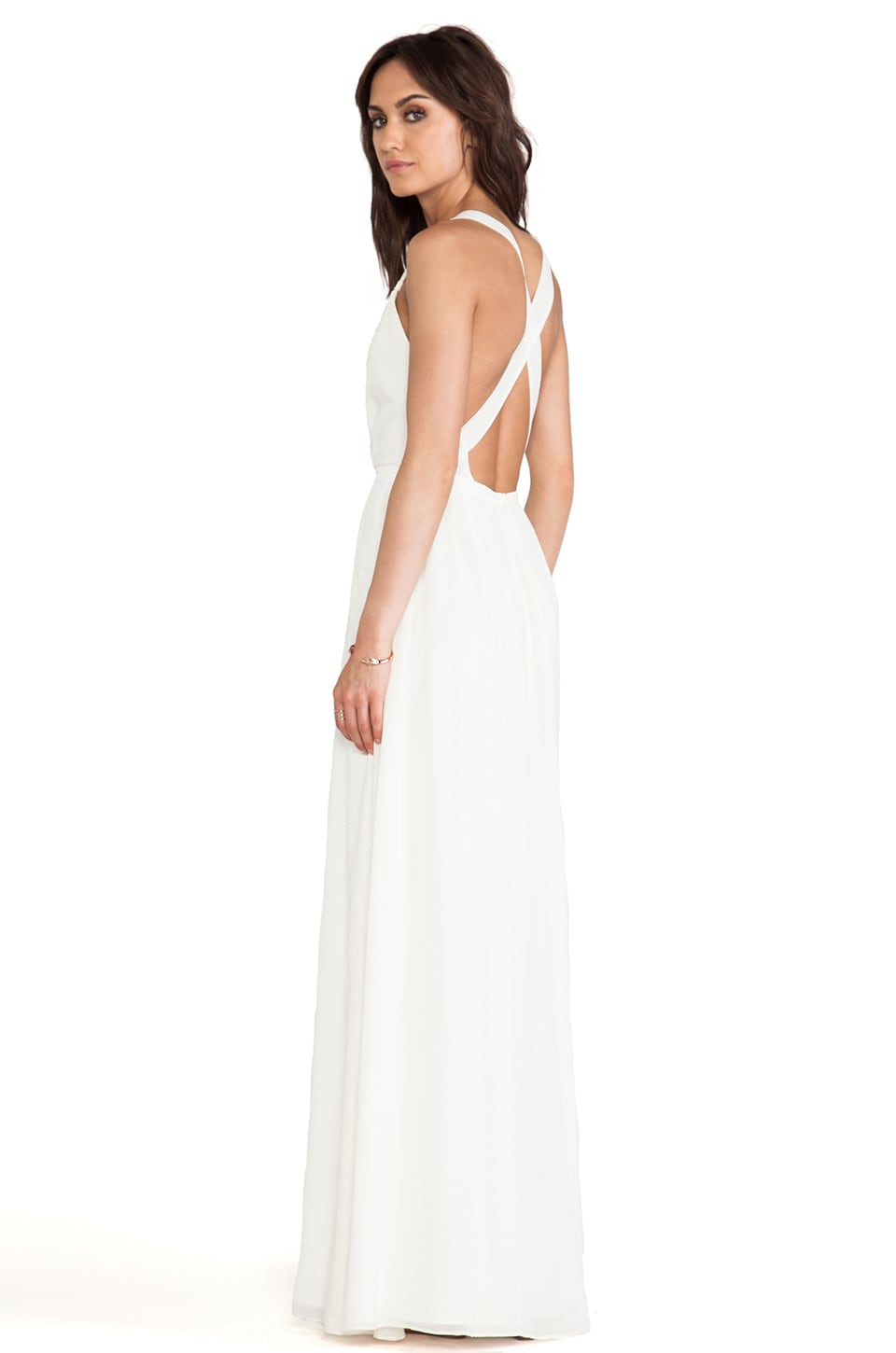 Alice by Temperley Long Hemingway Dress in Ivory