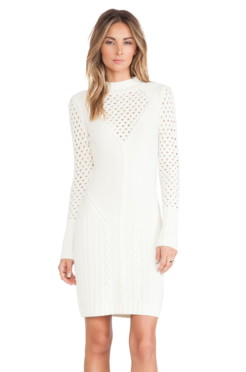 Alice by Temperley Lori Fitted Dress in Vanilla