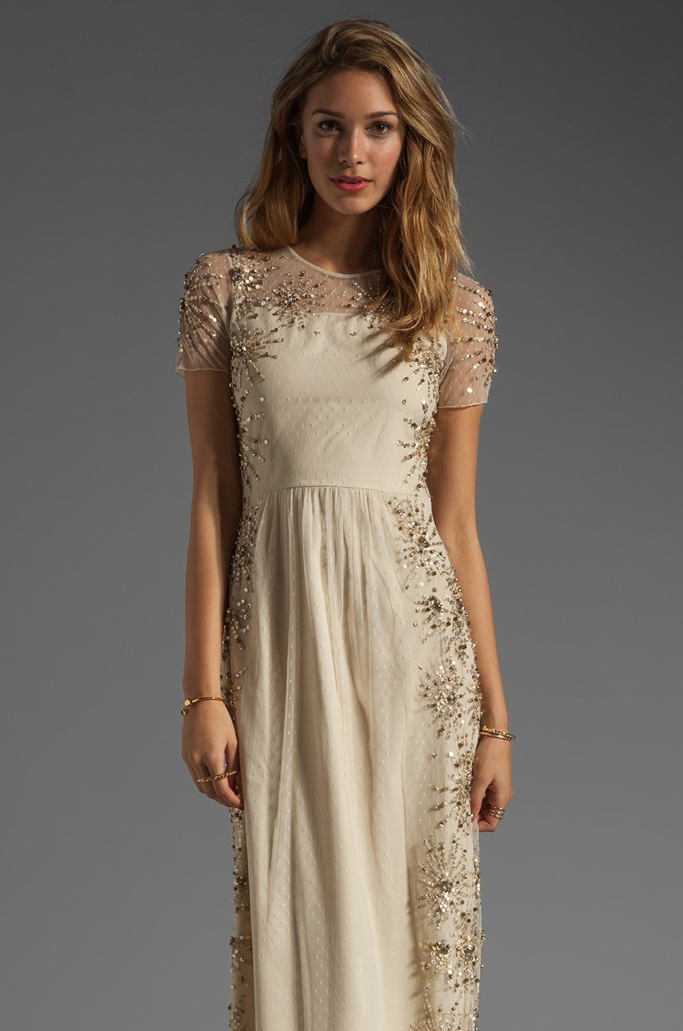 Alice by Temperley Long Balanchine Dress in Ivory Mix