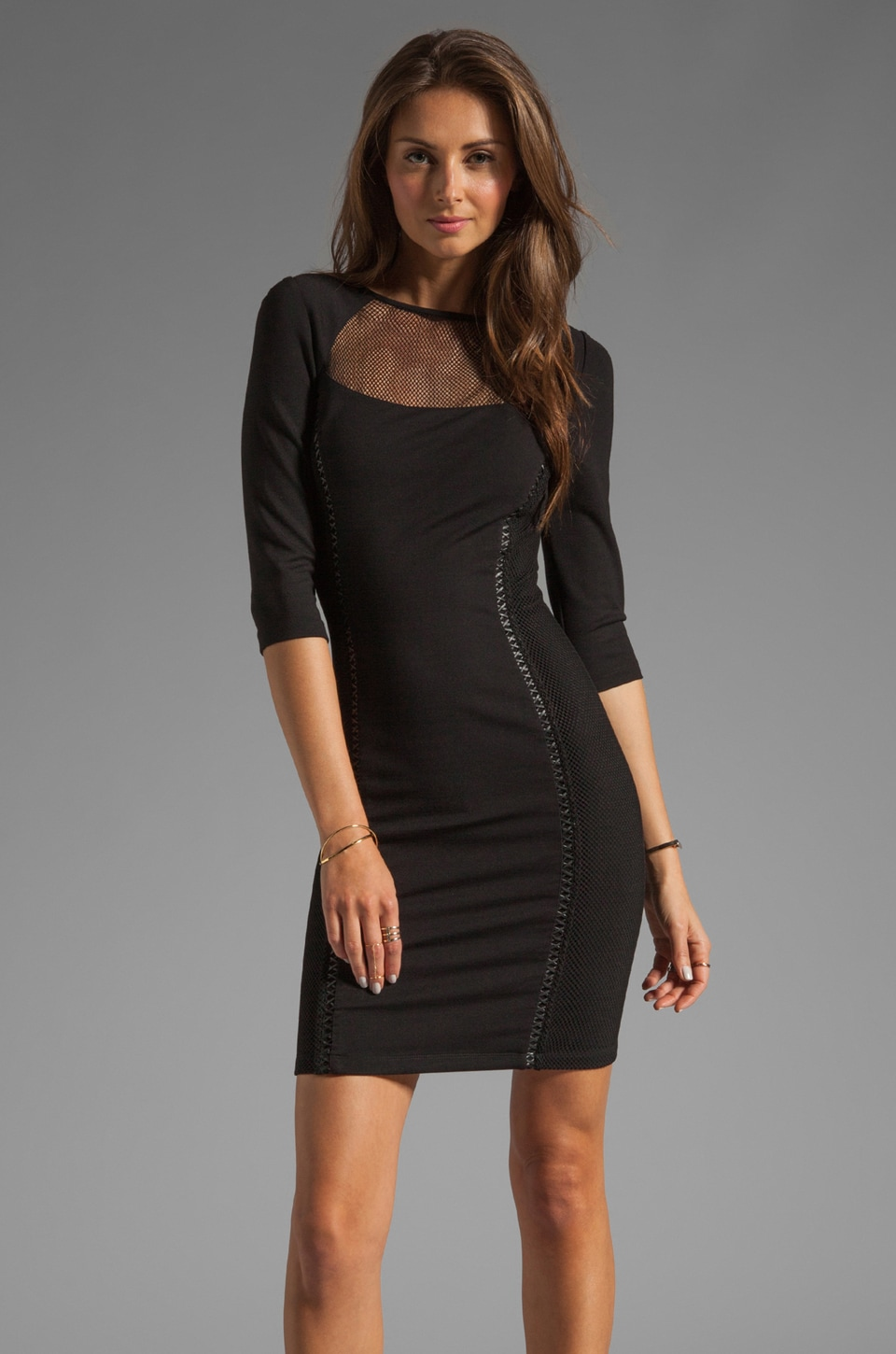 Alice by Temperley Harp Dress in Black