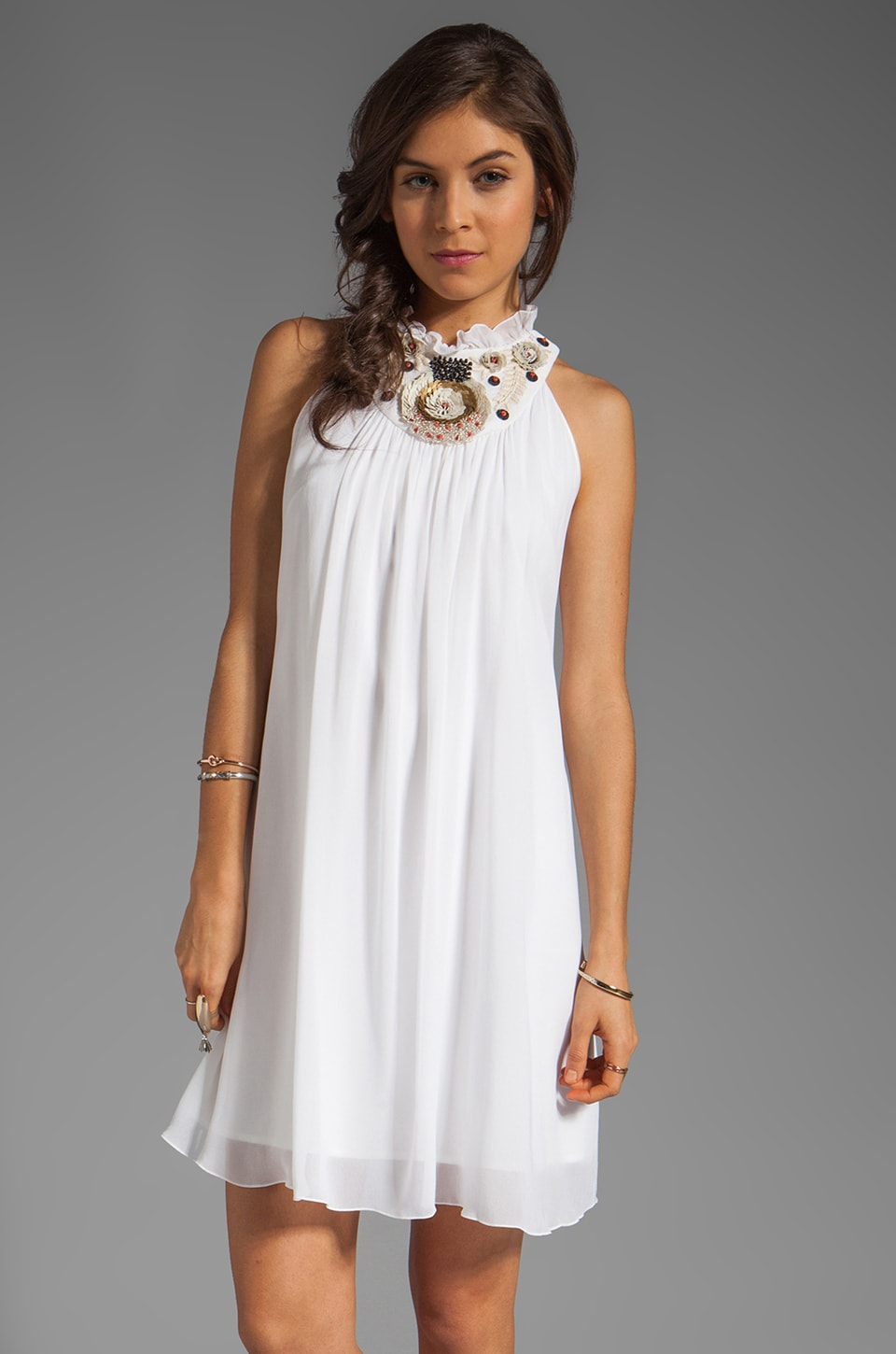 Alice by Temperley Mini Fonteyn Dress in Ivory