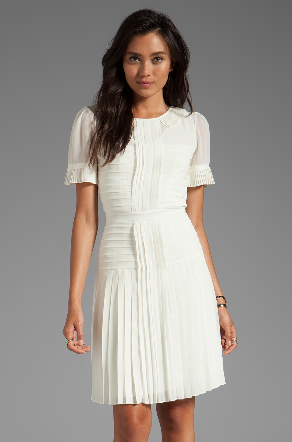 Alice by Temperley Kyoto Tea Dress in Ivory