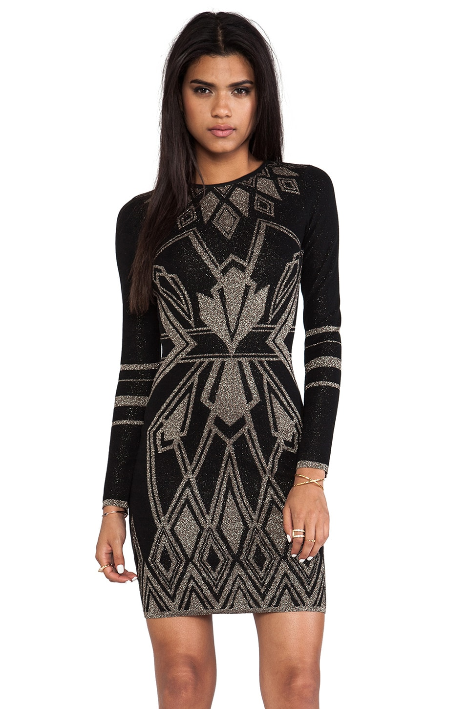 Alice by Temperley Ritz Dress in Black Mix