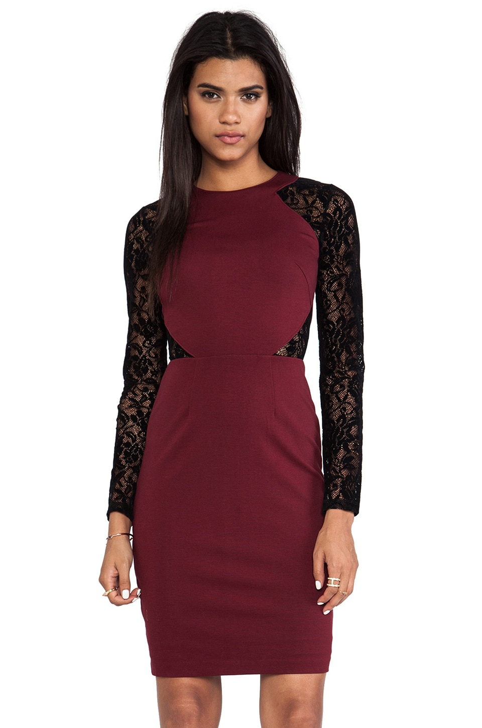 Alice by Temperley Solitaire Dress in Bordeaux