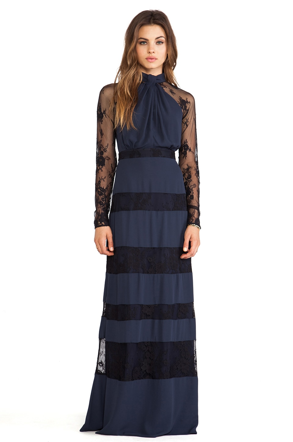 Alice by Temperley Regalia Long Dress in Midnight
