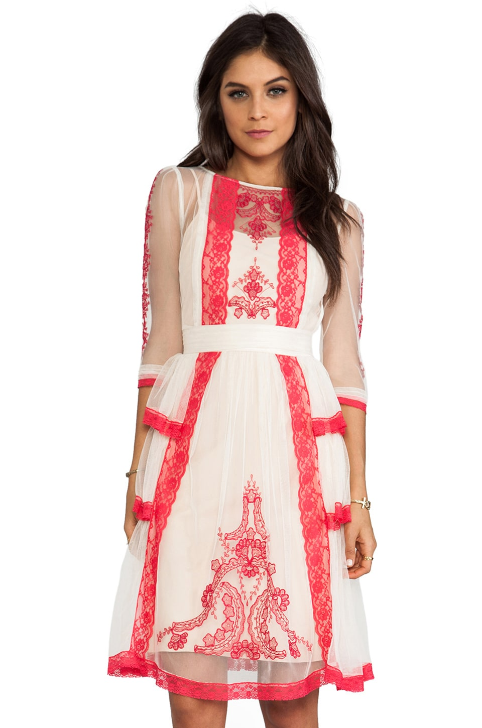 Alice by Temperley Botanical Dress in Geranium