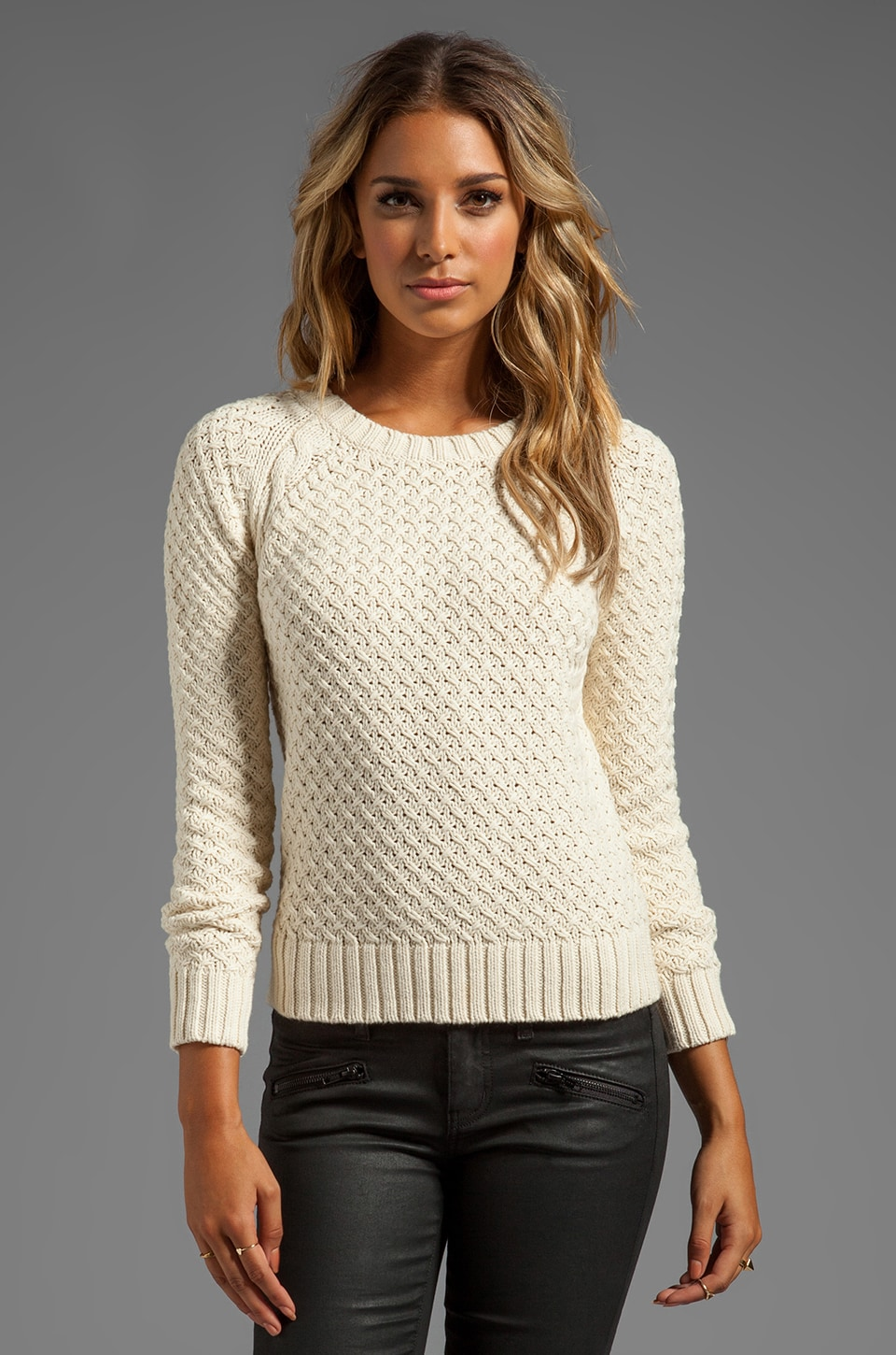 Alice by Temperley Keiko Knit Jumper in Cream
