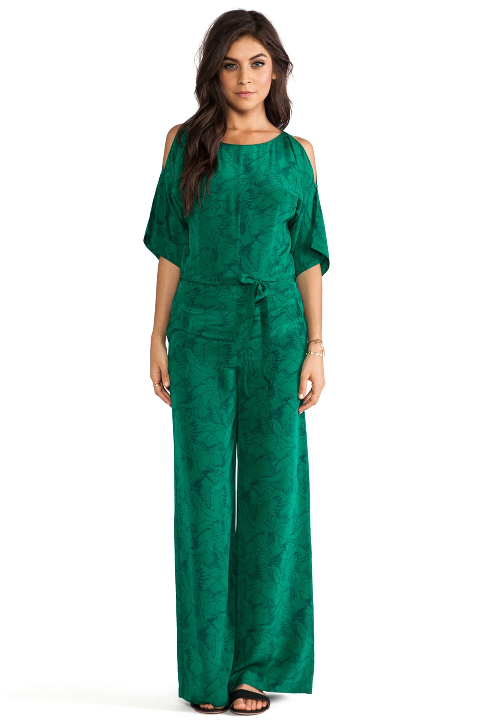 Alice by Temperley Heron Print Jumpsuit in Emerald Mix