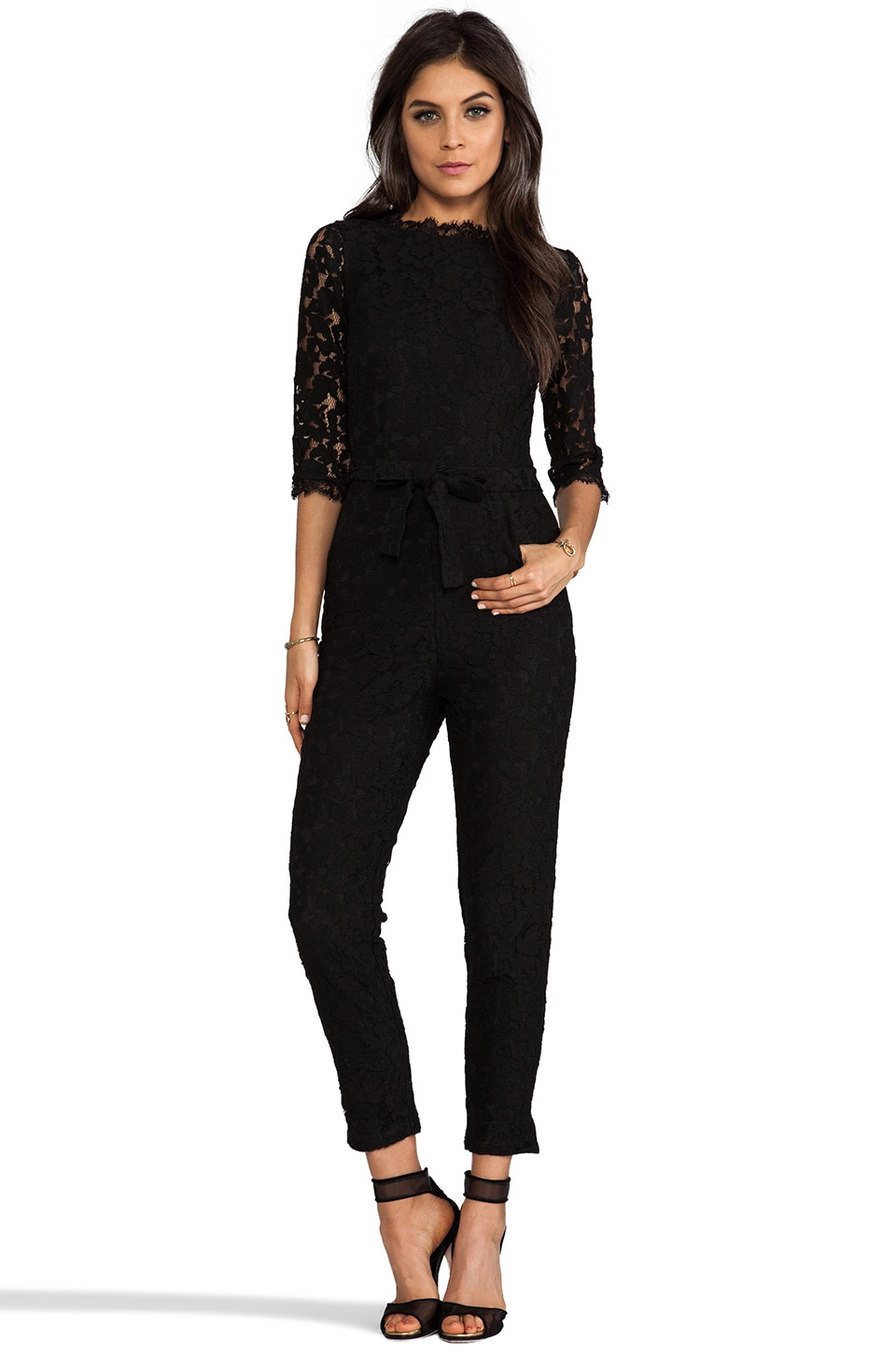 Alice by Temperley Eros Jumpsuit in Black