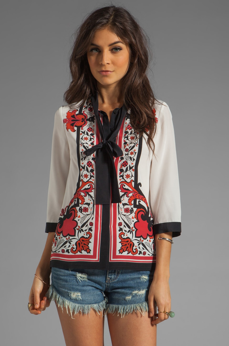 Alice by Temperley Nijinsky Print Shirt in Red Mix