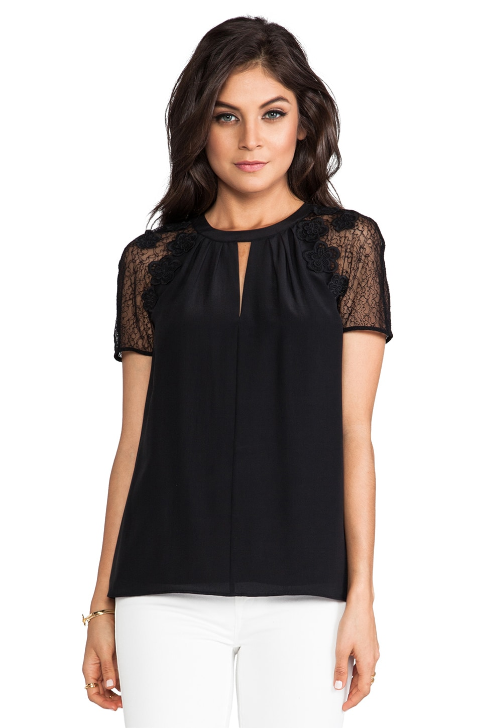 Alice by Temperley Kimi Top in Black