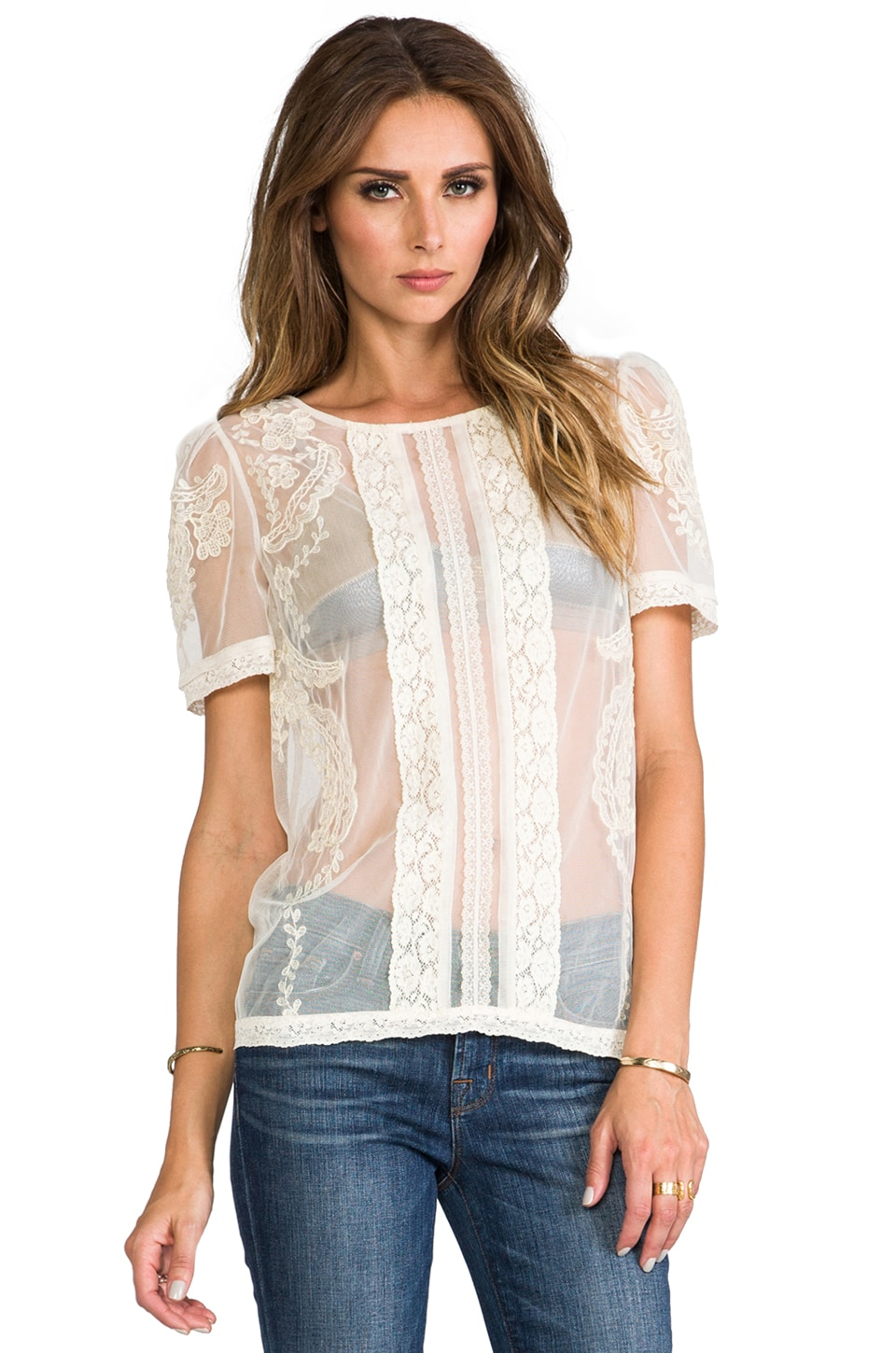 Alice by Temperley Botanical Top in Ivory