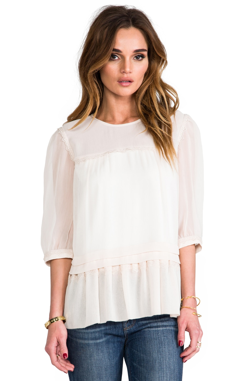 Alice by Temperley Deity Top in Oyster