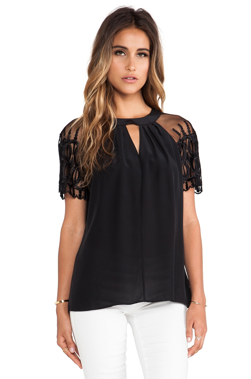 Alice by Temperley Everette Top in Black