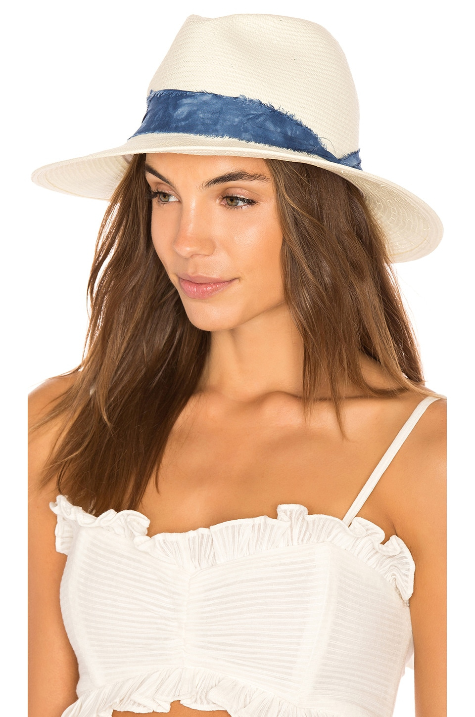 ale by alessandra Luca Hat in Ivory & Blue