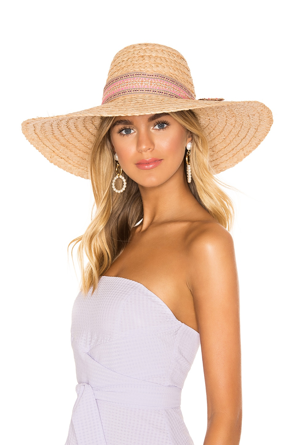 ale by alessandra Azteca Hat in Natural & Pink
