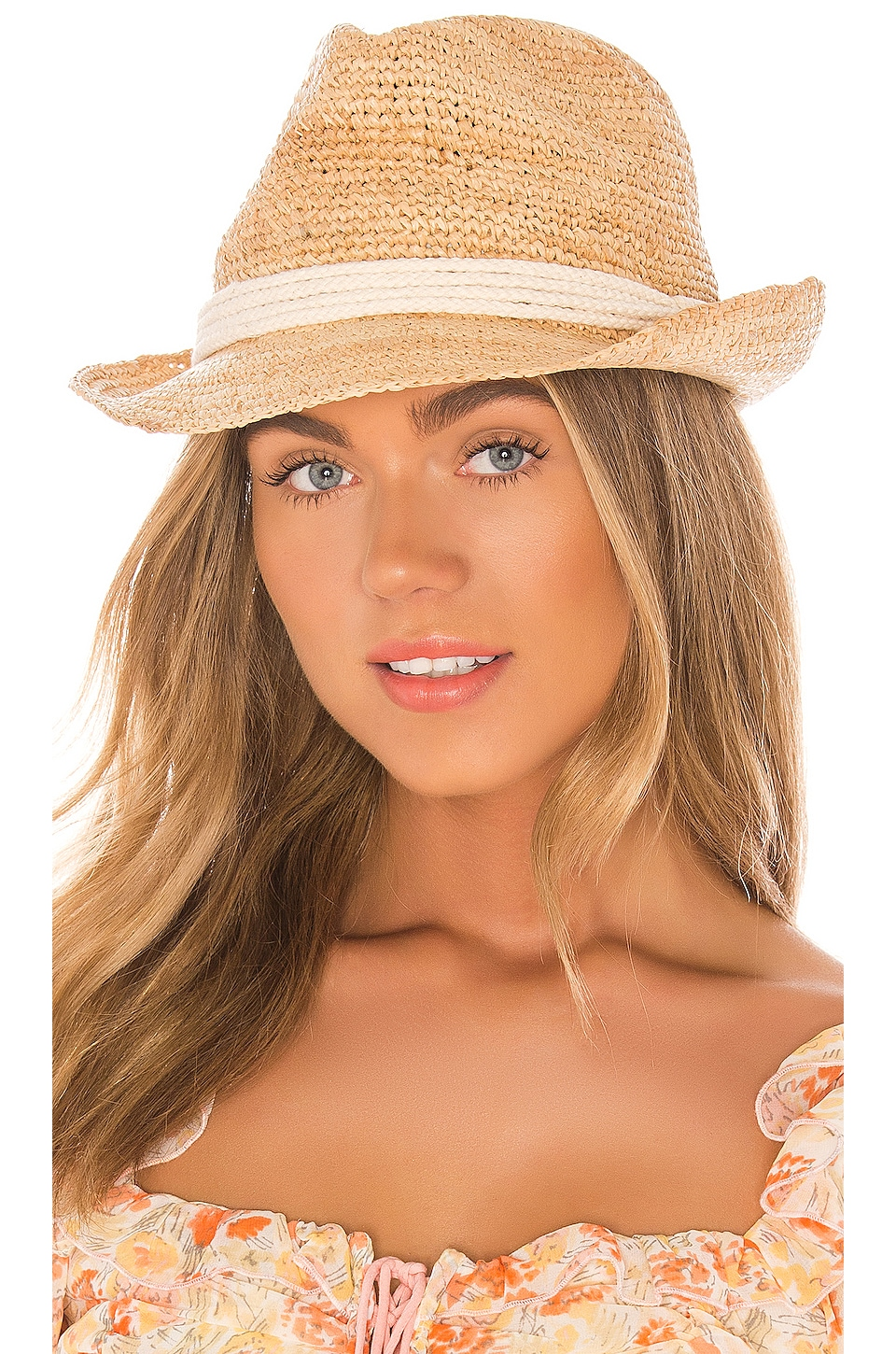 ale by alessandra Marin Fedora en Natural & White