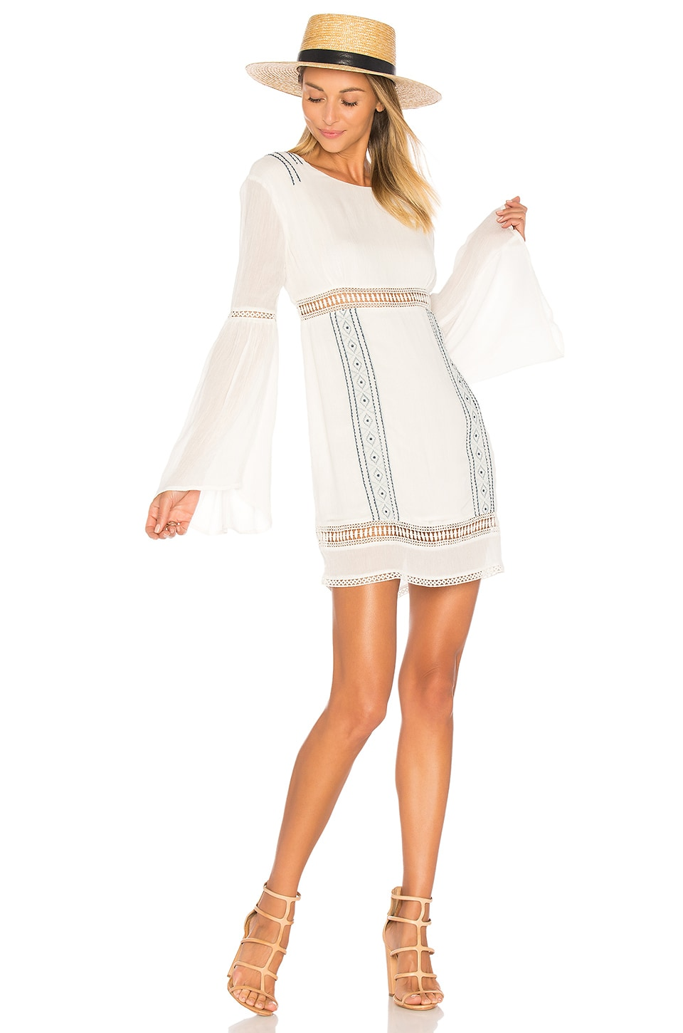 ale by alessandra x REVOLVE Luana Long Sleeve Dress in Ivory & Stone Blue