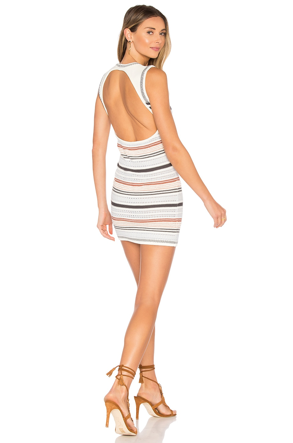 ale by alessandra x REVOLVE Andressa Sweater Dress in White & Striped