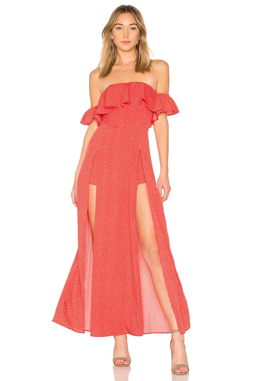 ale by alessandra x REVOLVE Betina Maxi Dress in Strawberry