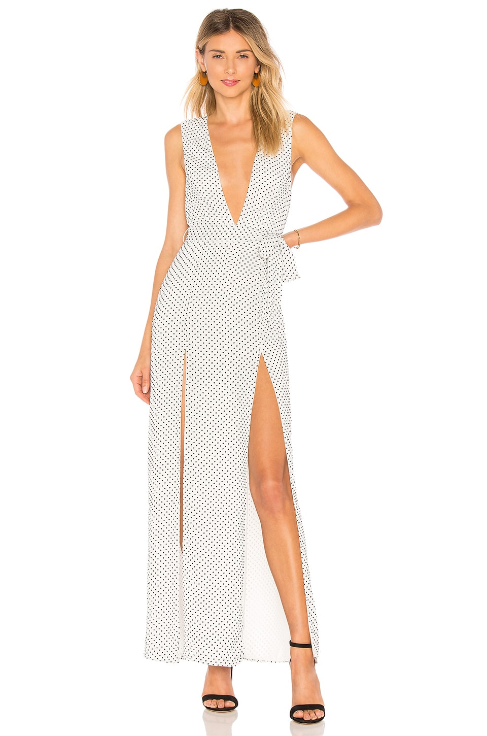 ale by alessandra x REVOLVE Taura Maxi Dress in Black White Dot