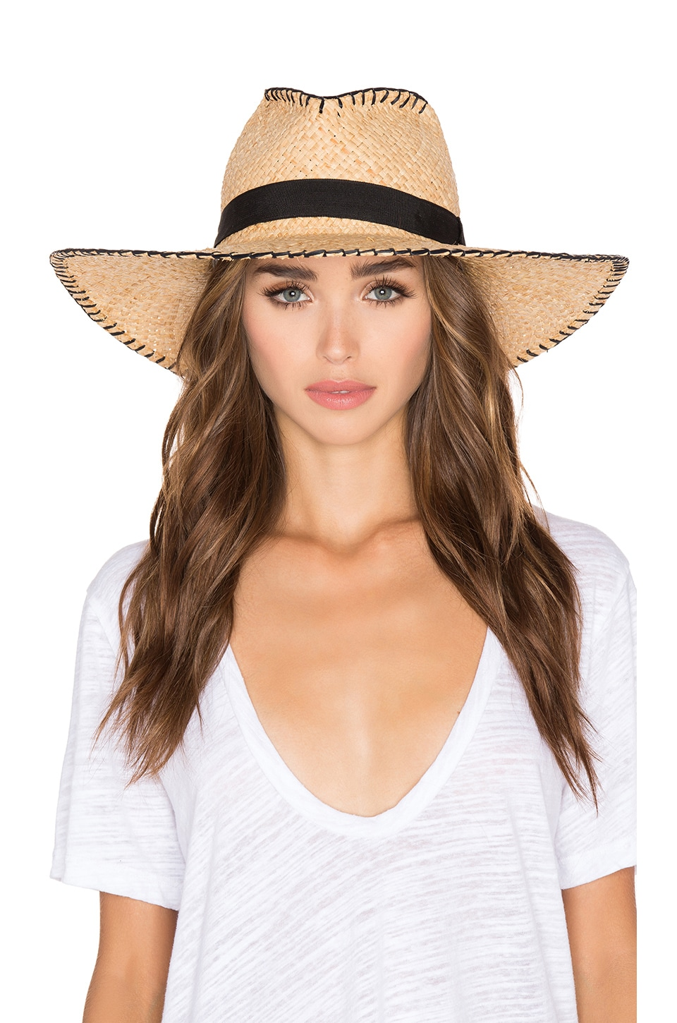 ale by alessandra Brava Hat in Natural & Black