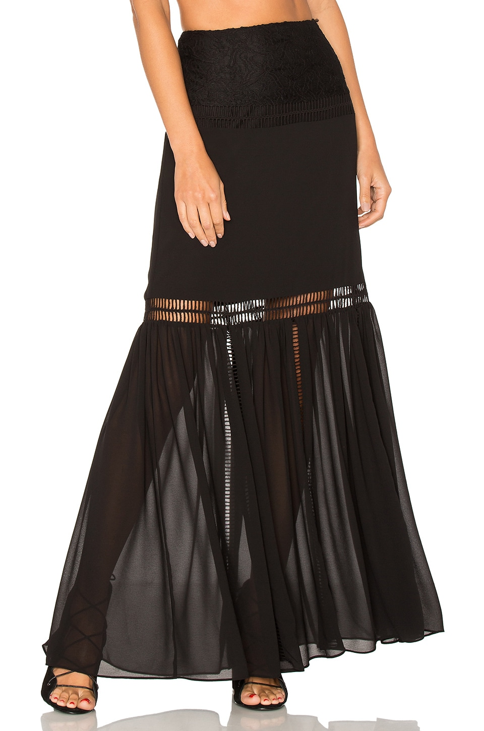 ale by alessandra x REVOLVE Virginia Skirt in Black Night