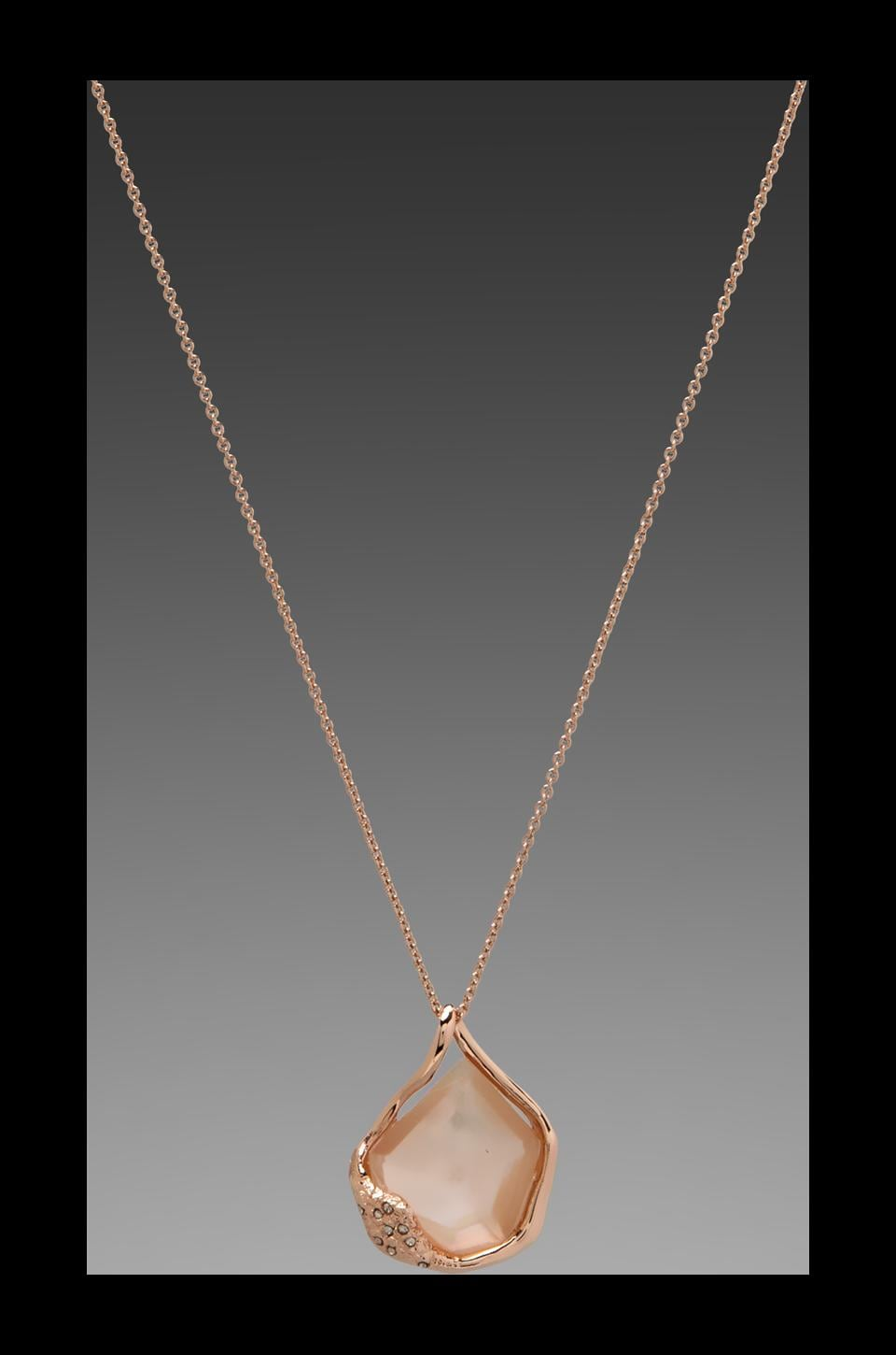 Alexis Bittar Liquid Rose Gold Synthetic Peach Morganite Doublet Molten Pendant