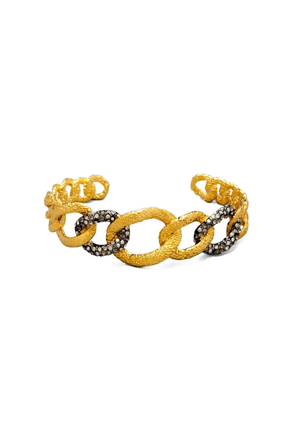 Alexis Bittar Cordova Gold & Antique Rhodium Chain Link Cuff