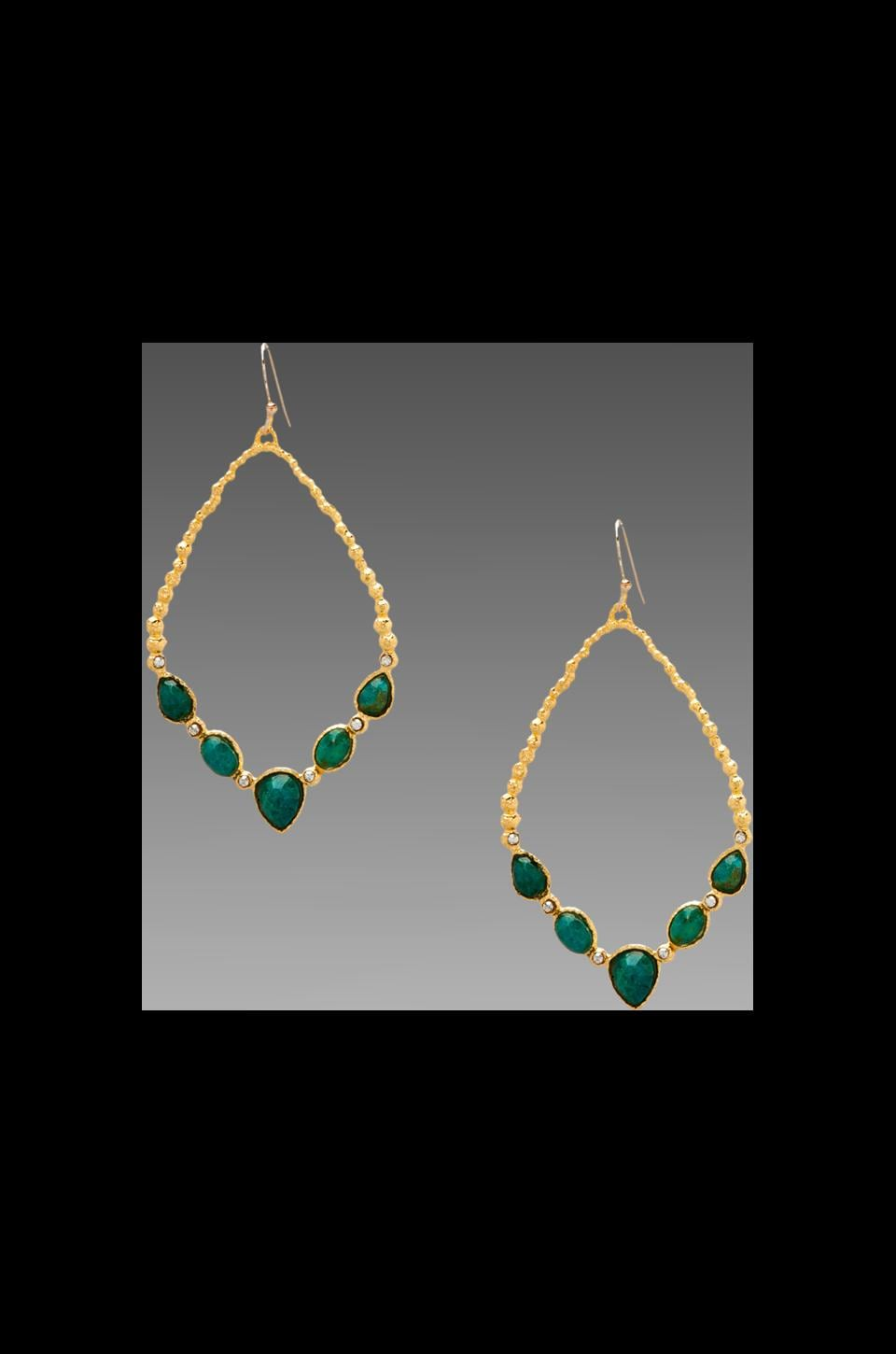 Alexis Bittar Cordova Gold Small Chrysocolla Tear Link Earring