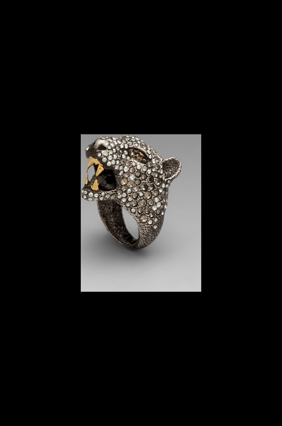 Alexis Bittar Cordova Gold & Antique Rhodium Jaguar Ring