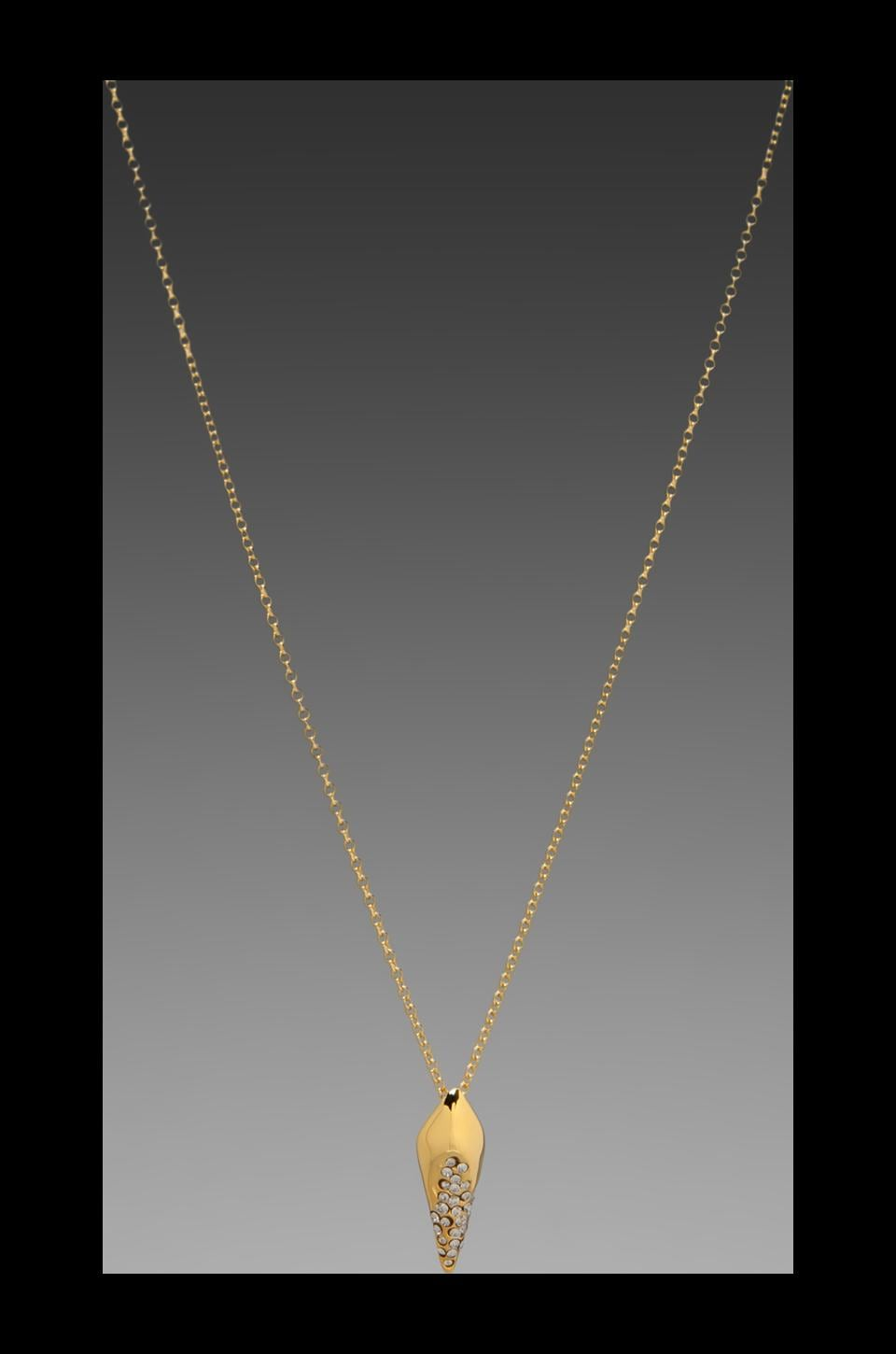 Alexis Bittar New Wave Gold Small Pave Kite Pendant