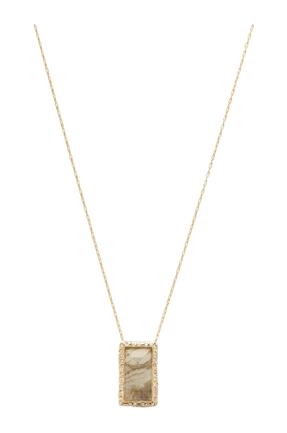 Alexis Bittar Framed Baguette Pendant Necklace in Lab Doublet