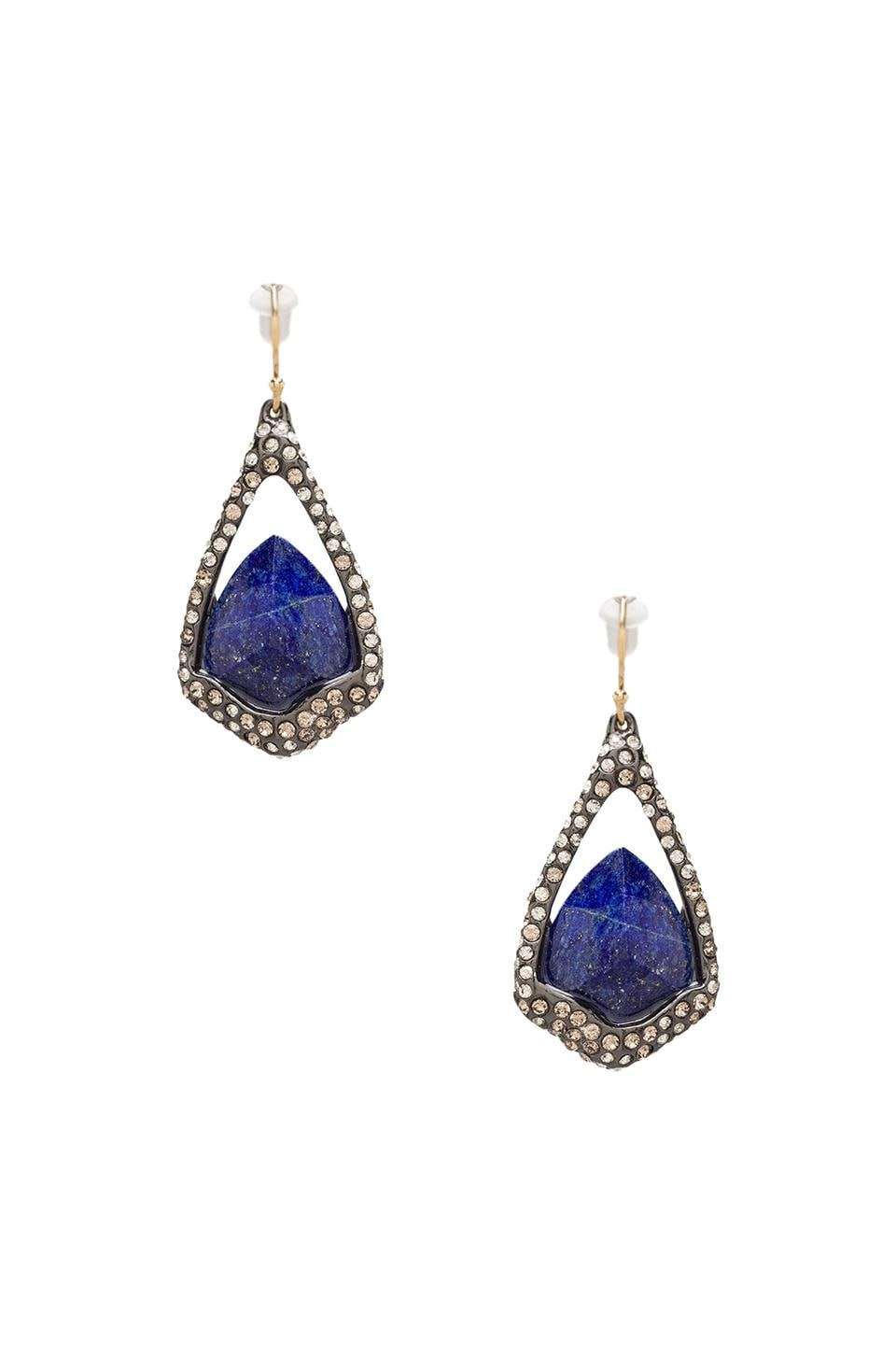 Alexis Bittar Drop Earring w/ Suspended Stone in Lapis