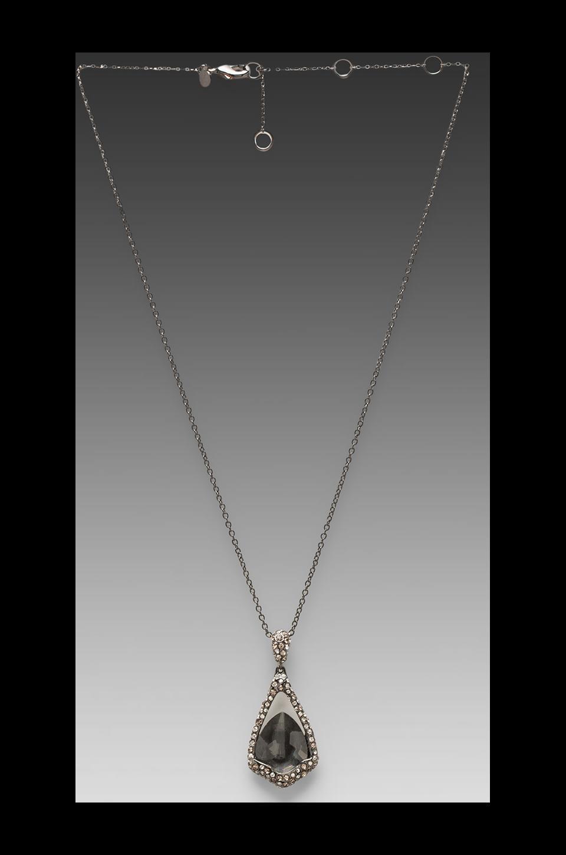 Alexis Bittar Pendant Necklace in Hematite Doublet