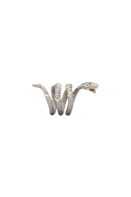 Alexis Bittar Diamond Back Snake Ring in Hematite Doublet