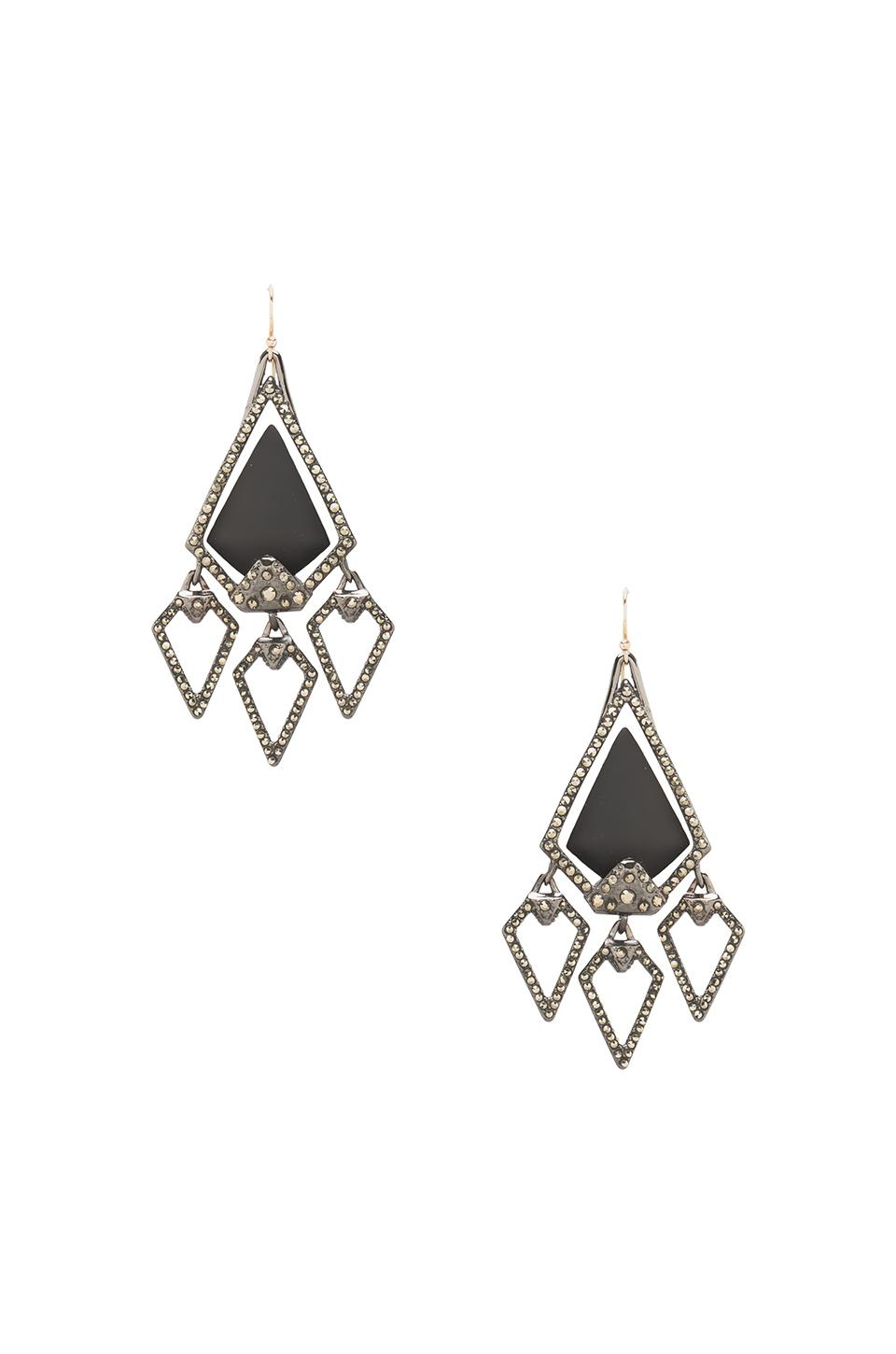 Alexis Bittar Santa Fe Arrow Chandelier Earring in Black