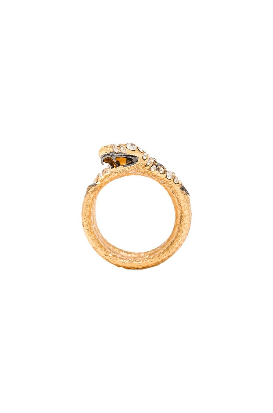 Alexis Bittar Diamond Back Snake Ring in Gold