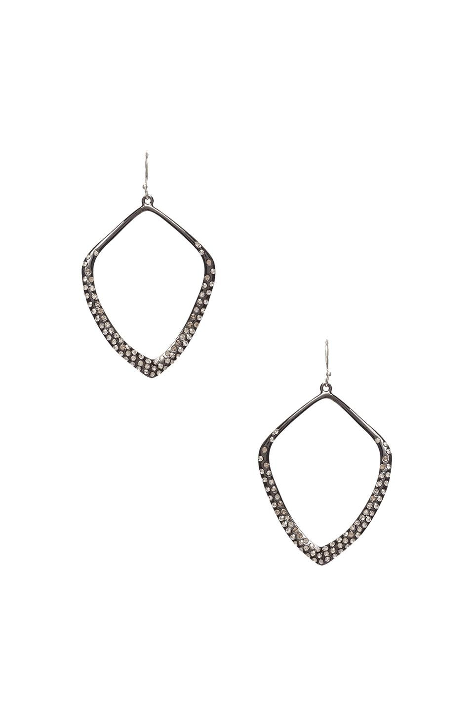 Alexis Bittar Pave Kite Orbit Earring in Gunmetal