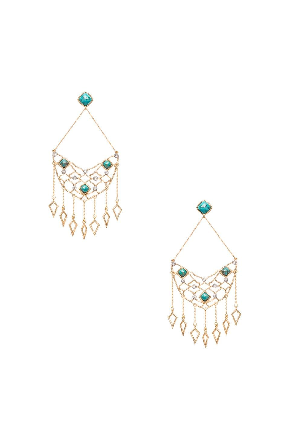 Alexis Bittar Chandelier Earrings in Gold