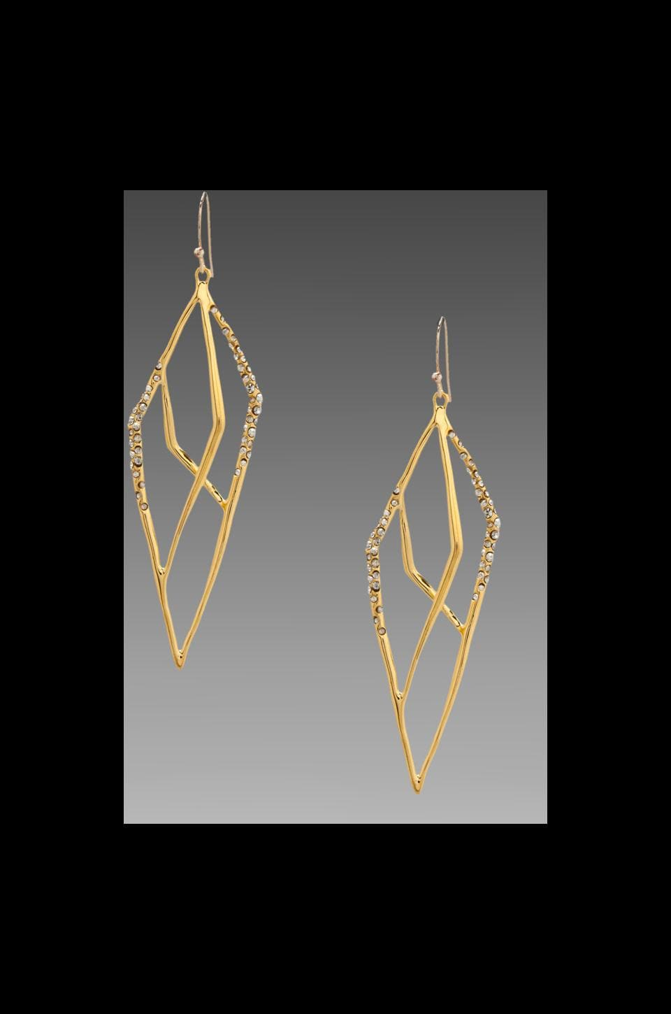 Alexis Bittar New Wave Gold Pave Layered Kite Earring