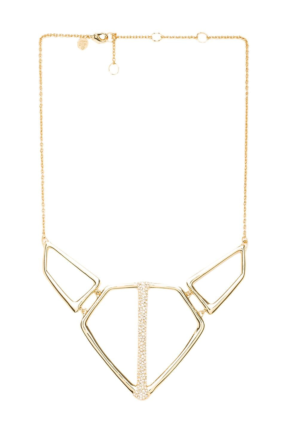 Alexis Bittar Open Link Bar Necklace in Gold